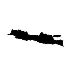 Java island map silhouette vector