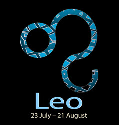 leo ornamental decorative zodiac sign vector image