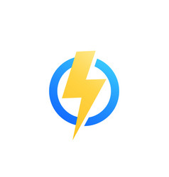 lightning bolt icon logo vector image