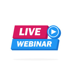 live webinar button icon emblem label - design vector image