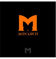 Logo monarch vector