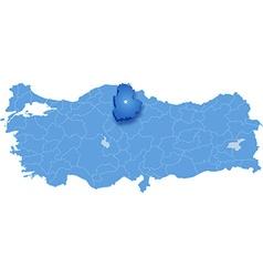 Map of Turkey Corum vector