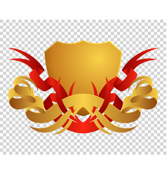 medieval shield coats arms king and kingdom vector image