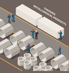 metal industry isometric composition vector image