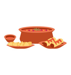 mexican cuisine dishes local vector image