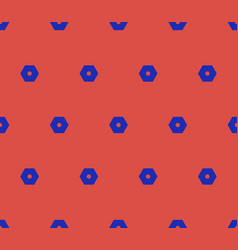 minimalist geometric seamless pattern with hex vector image