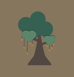 money tree on brown background vector image