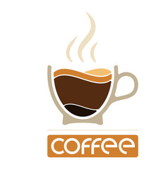 morning cup coffee for waking up logo or vector image