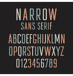 Narrow Sans Serif 001 vector image