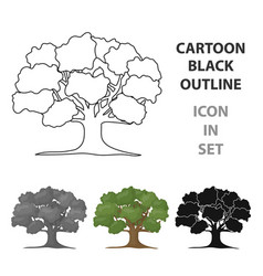 oak icon in cartoon style for web vector image