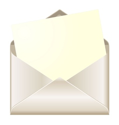 Open envelope with card vector image