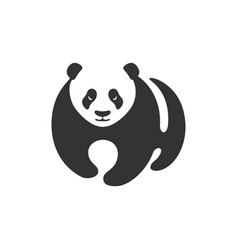 panda go vector image