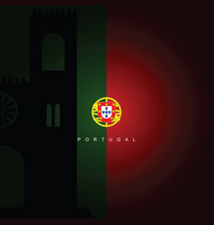 Portugal flag with sign vector