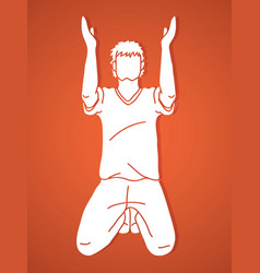 praise god prayer christian praying thank you g vector image