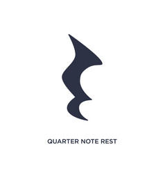 Quarter note rest icon on white background simple vector