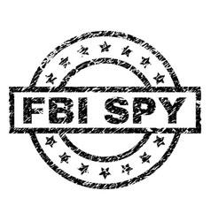 Scratched textured fbi spy stamp seal vector