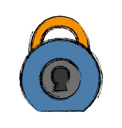 Security padlock icon image vector