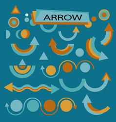 Set for various design arrows vector