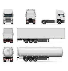 Set trucks vector