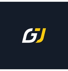 Sign letter g and j vector