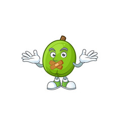 silent casimiroa fruit with cartoon mascot style vector image