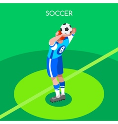 Soccer Throw 2016 Summer Games 3D Isometric vector
