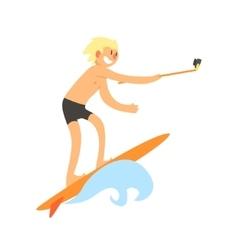 Surfer Taking Selfie vector