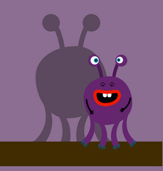 surprized monster with shadow vector image
