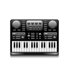 Synthesizer isolated on white vector