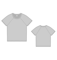t-shirt design template front and back technical vector image