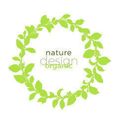 template nature design circle green vector image