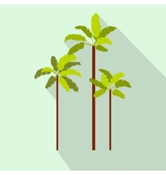 Three palm trees icon flat style vector image vector image