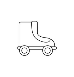 Toy roller skate line style icon vector