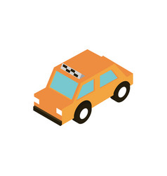 transport taxi public vehicle isometric icon vector image