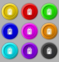 travel luggage suitcase icon sign symbol on nine vector image
