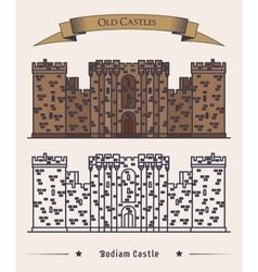 United Kingdom landmark Bodiam castle vector