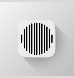white technology app icon template vector image