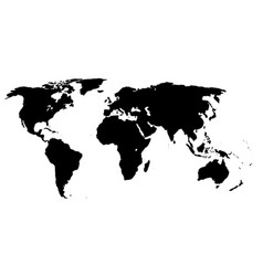 World outline vector