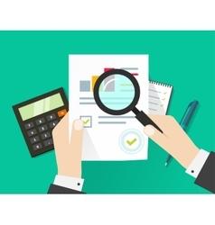 financial audit auditing tax process paper sheet vector image