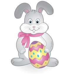 funny happy easter bunny vector image