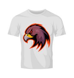 Furious eagle head sport logo concept vector