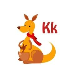 Kangaroo Funny Alphabet Animal vector image vector image