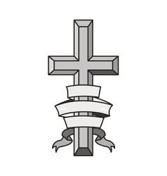 religious cross icon vector image vector image