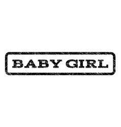 baby girl watermark stamp vector image vector image