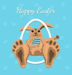 Happy easter gift card vector