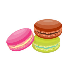 cookie macaroon homemade breakfast bake cakes vector image vector image