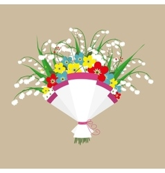Cute bouquet of flowers vector image
