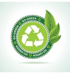 Eco-friendly recycle icon design vector