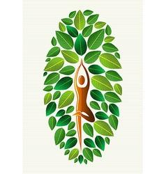 India yoga leaf concept vector image