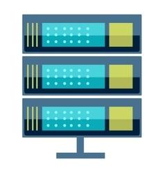 Internet data center server vector
